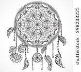 dream catcher with ornament.... | Shutterstock .eps vector #398233225