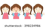 cartoon character emotions... | Shutterstock .eps vector #398234986