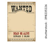wanted poster on wood wall...