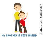 vector illustration. brothers. | Shutterstock .eps vector #398240872