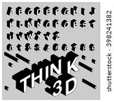 think 3d font   black | Shutterstock .eps vector #398241382