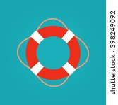 ring life buoy vector... | Shutterstock .eps vector #398249092
