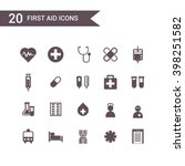 first aid medicine icons set... | Shutterstock .eps vector #398251582
