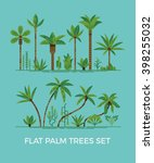 palm trees and other tropical... | Shutterstock .eps vector #398255032