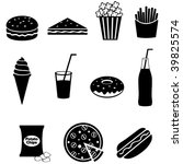 fast food icons | Shutterstock .eps vector #39825574