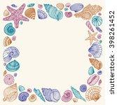 seashell square multicolored... | Shutterstock .eps vector #398261452