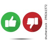 thumbs up  thumbs down | Shutterstock . vector #398261572