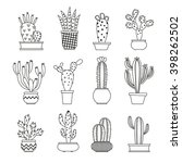 cactus collection in vector... | Shutterstock .eps vector #398262502