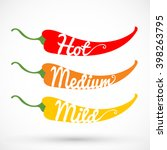 pepper chilli vector... | Shutterstock .eps vector #398263795