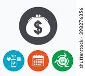 wallet dollar sign icon. cash... | Shutterstock .eps vector #398276356