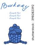 bakery shop business card  cafe ... | Shutterstock .eps vector #398282392