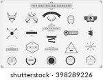 vintage vector design elements  ...   Shutterstock .eps vector #398289226