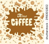 coffee time. lettering design....