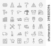 building construction line art...   Shutterstock .eps vector #398305396