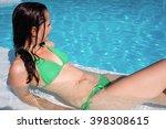 portrait of smiling woman in... | Shutterstock . vector #398308615