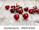 berry cherry on wooden... | Shutterstock . vector #398319202