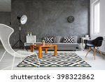 grey interior with sofa  chairs ... | Shutterstock . vector #398322862