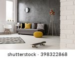 grey interior with sofa  chair  ... | Shutterstock . vector #398322868