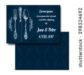 classic silverware party... | Shutterstock .eps vector #398324692