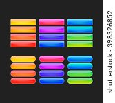 colorful vector web buttons set   Shutterstock .eps vector #398326852