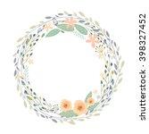 floral frame beautiful vintage... | Shutterstock .eps vector #398327452