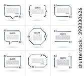 set of vector quote templates.... | Shutterstock .eps vector #398330626