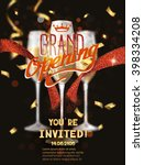 grand opening card with red... | Shutterstock .eps vector #398334208