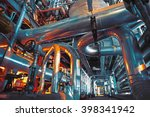 equipment  cables and piping as ... | Shutterstock . vector #398341942