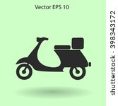 flat moped icon. vector | Shutterstock .eps vector #398343172