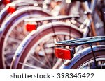 Close Up Of Bicycles On Parking ...