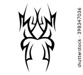 tattoo tribal vector design.... | Shutterstock .eps vector #398347036