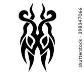 tattoo tribal vector design.... | Shutterstock .eps vector #398347066