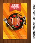bbq grill flyer  typographical ... | Shutterstock .eps vector #398350102