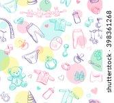 cheerful children's seamless... | Shutterstock .eps vector #398361268