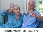 Senior Couple Making Faces...