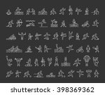 line icons of sportsmen on... | Shutterstock . vector #398369362