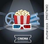 cinema poster design template.  ... | Shutterstock .eps vector #398376082