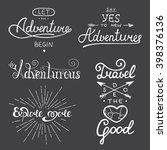 set of adventure and travel... | Shutterstock . vector #398376136