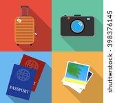 travel flat icons set. tourism...