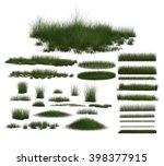 green grass isolated   | Shutterstock . vector #398377915