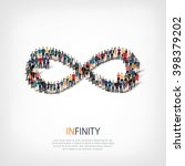 infinity people  symbol | Shutterstock .eps vector #398379202