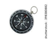 frontal view of isolated compass | Shutterstock . vector #398380882