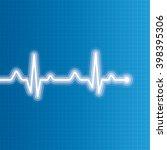abstract heart beats cardiogram ... | Shutterstock . vector #398395306