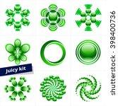 set of green vector logotype... | Shutterstock .eps vector #398400736