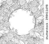abstract hand drawn zentangle... | Shutterstock .eps vector #398411698