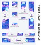 big sale concept violet colors... | Shutterstock .eps vector #398415568