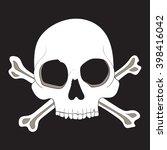 skull and crossed bones  vector ...   Shutterstock .eps vector #398416042