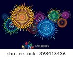 vector illustration of colorful ... | Shutterstock .eps vector #398418436