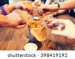 fast food  junk food  unhealthy ... | Shutterstock . vector #398419192