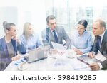 business  technology and office ... | Shutterstock . vector #398419285